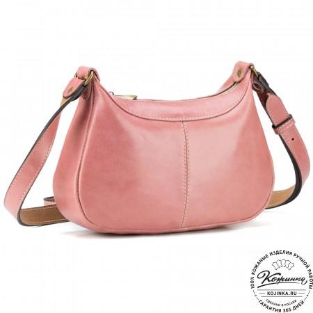 """Женская кожаная сумка """"Лоя"""" (розовая)"""