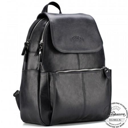 """Кожаный рюкзак """"Дафна"""" (чёрный)"""