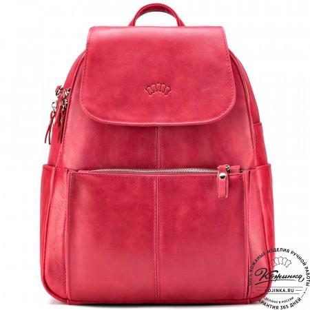 """Кожаный рюкзак """"Дафна"""" (красный)"""
