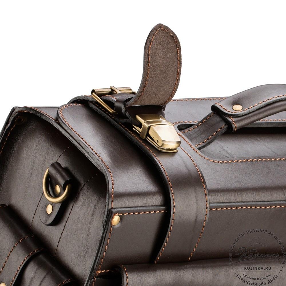 """Кожаный портфель-Кофр  """"Универсал""""  (коричневый)"""