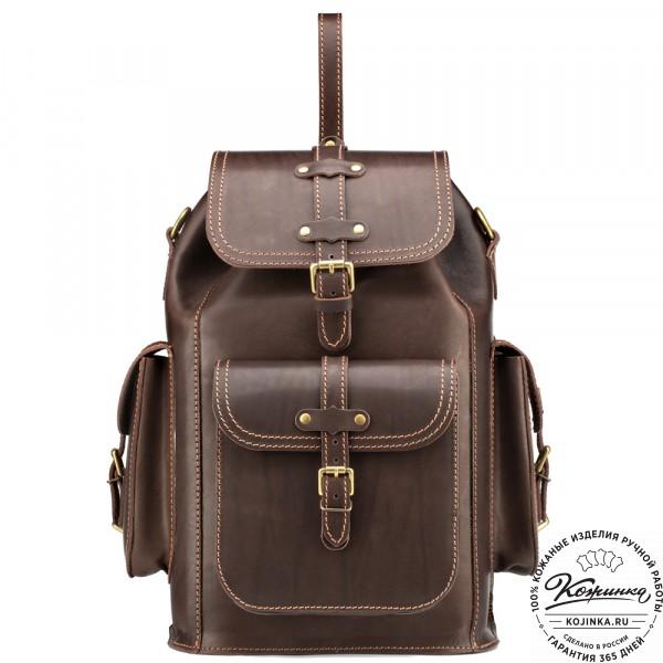 """Кожаный рюкзак """"Патриот"""" (коричневый). фото 1"""