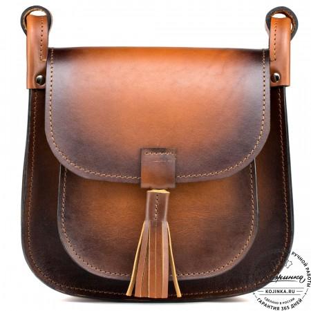 """Женская кожаная сумка """"Вестерн"""" (коричневая)"""