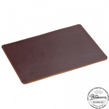 Кожаный коврик для мыши (коричневый)
