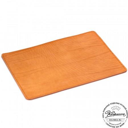 Кожаный коврик для мыши (рыжий)