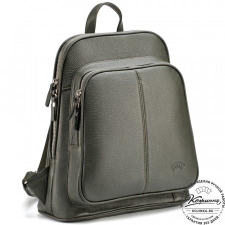 """Кожаный рюкзак """"Бэтси"""" (оливковый)"""