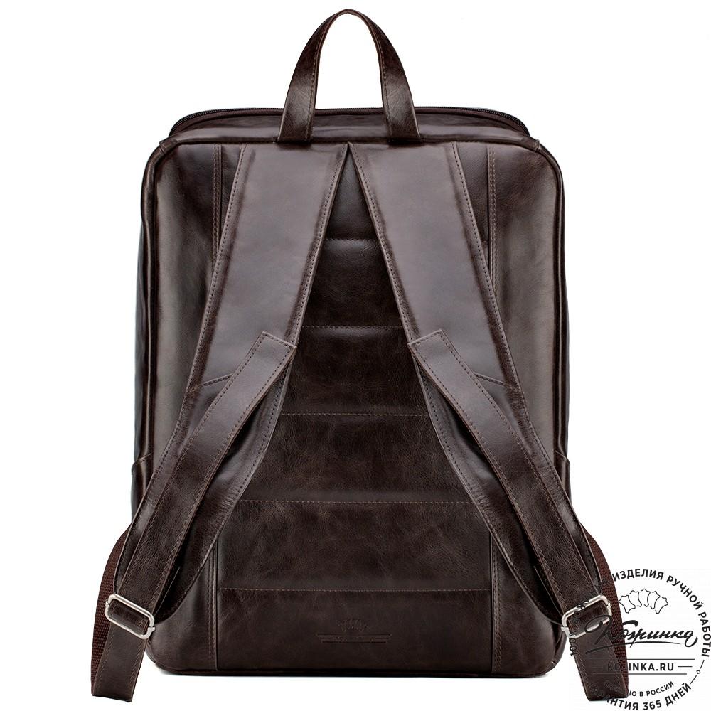"""Кожаный рюкзак """"Вена"""" (тёмно-коричневый антик)"""