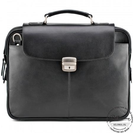 """Кожаный портфель """"Эдгар"""" (черный)"""