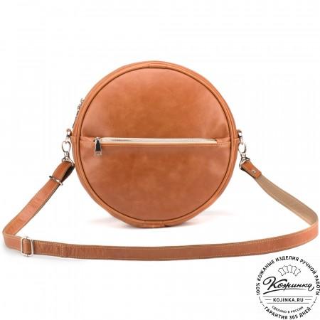 """Женская кожаная сумка-рюкзак """"Дарья XL"""" (коричневая)"""