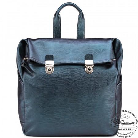 """Кожаный рюкзак """"Фрида"""" (синий)"""