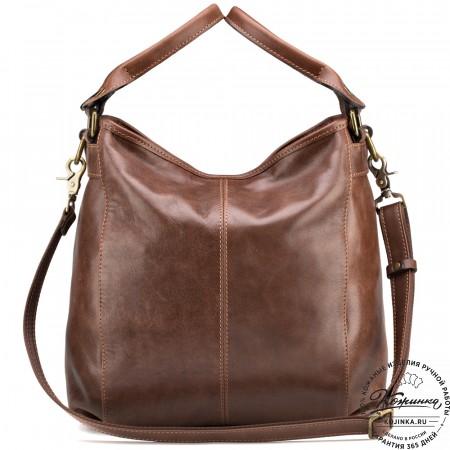 """Женская кожаная сумка """"Барбара"""" (коричневая)"""