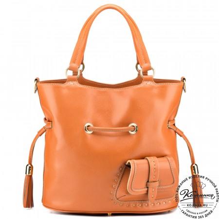 """Женская кожаная сумка """"Джипси"""" (рыжая)"""
