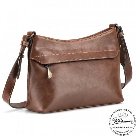 """Женская кожаная сумка """"Лилли"""" (коричневая)"""