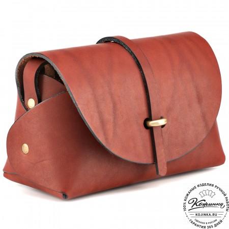 """Женская кожаная сумка """"Милла"""" (коричневая)"""