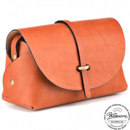 "Женская кожаная сумка ""Милла"" (рыжая)"