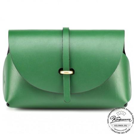 """Женская кожаная сумка """"Милла"""" (зелёная)"""