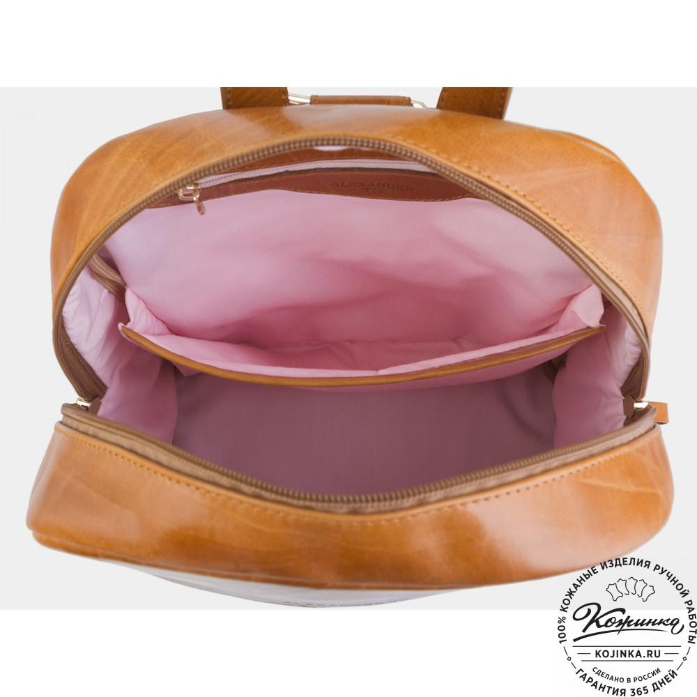 """Кожаный  рюкзак """"Бэмби"""" (рыжий)"""