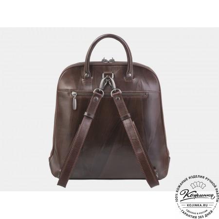 """Кожаный рюкзак """"Время страны чудес"""" (коричневый)"""
