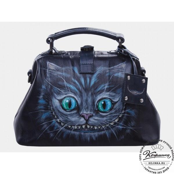 """Женская кожаная сумка-саквояж """"Чешир"""". фото 1"""