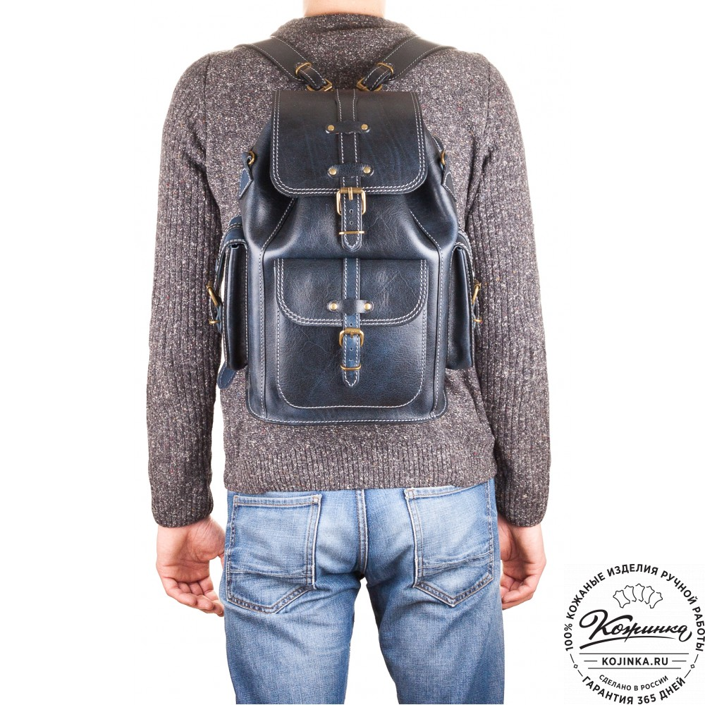 """Кожаный рюкзак """"Патриот"""" (коричневый)"""