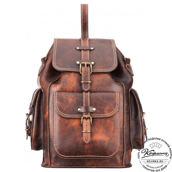 """Кожаный рюкзак """"Патриот"""" (коричневый эксклюзив). фото 1"""