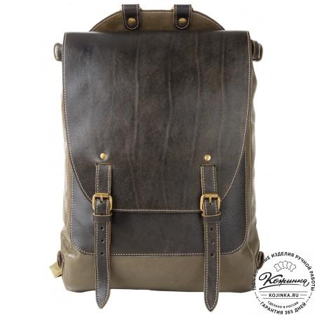 """Кожаный рюкзак """"Рафаэль"""" (оливковый)"""