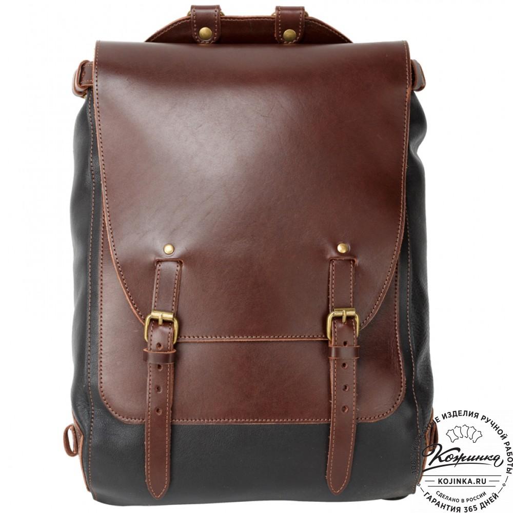 Рюкзаки кожаные sachet стиль-2 черно-коричневый рюкзак под радиостанцию bw
