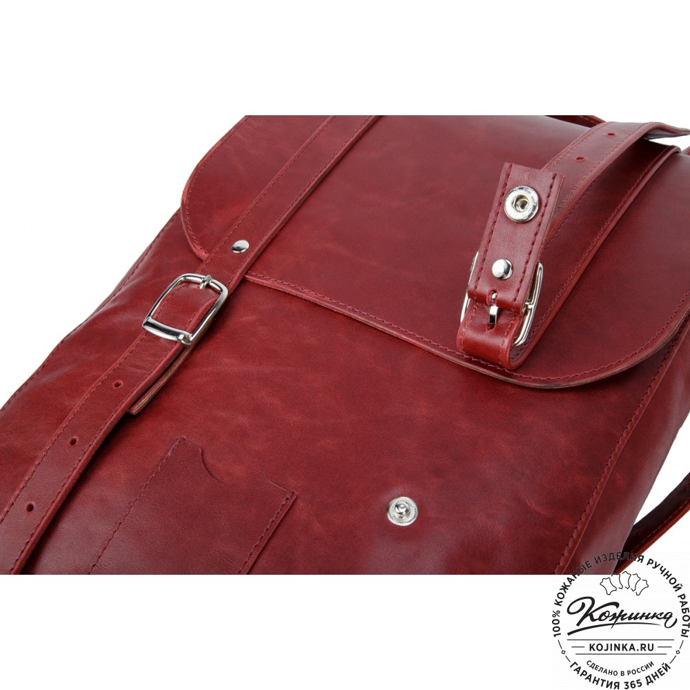 """Кожаный рюкзак """"Тереза"""" средний (вишневый)"""