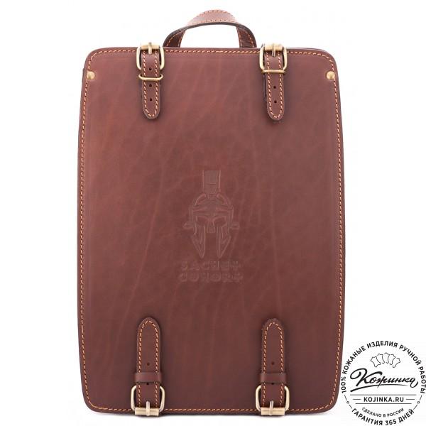 """Кожаный рюкзак """"Когорта"""" (коричневый). фото 1"""