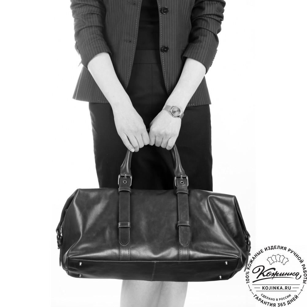 Кожаная дорожно-спортивная сумка Вашингтон (бирюзовая)