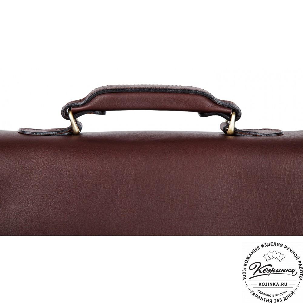 """Кожаный деловой портфель """"Дарвин"""" (коричневый)"""
