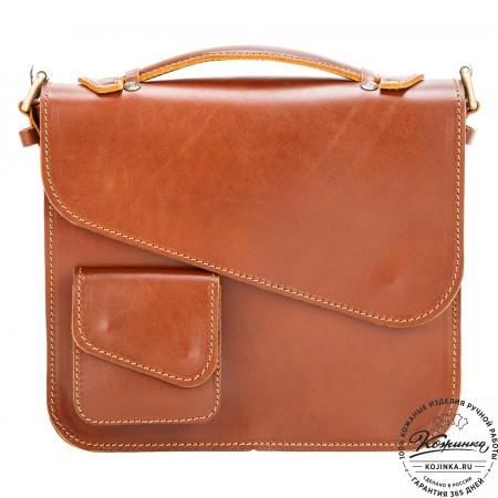 """Кожаный портфель """"Ройс"""" (коричневый)"""