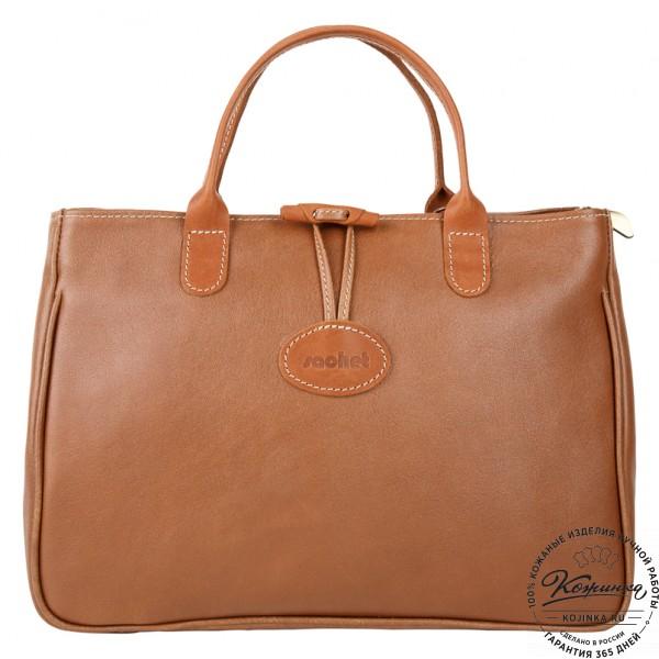 """Женская кожаная сумка """"Шампань"""" (коричневая). фото 1"""