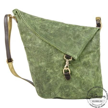 """Кожаная сумка """"Верона"""" (зеленая)"""