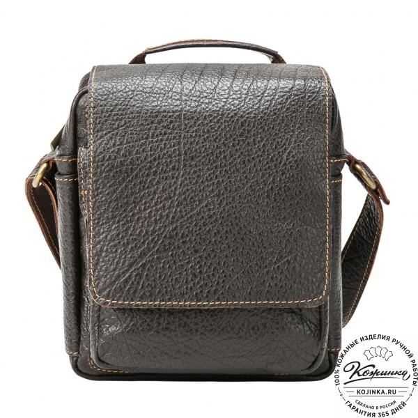 """Кожаная сумка через плечо """"Шерлок"""" (тёмно-коричневая). фото 1"""