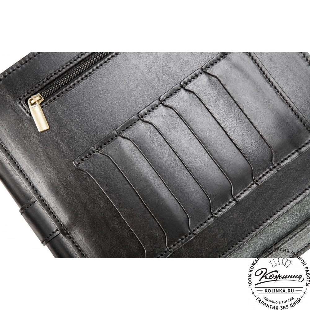 Кожаный планшет 207 (чёрный)