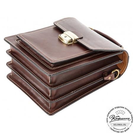 Кожаный планшет 203 (коричневый)