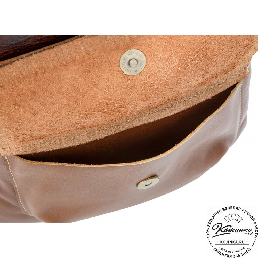 """Кожаный рюкзак """"Gray"""" (светло-коричневый)"""