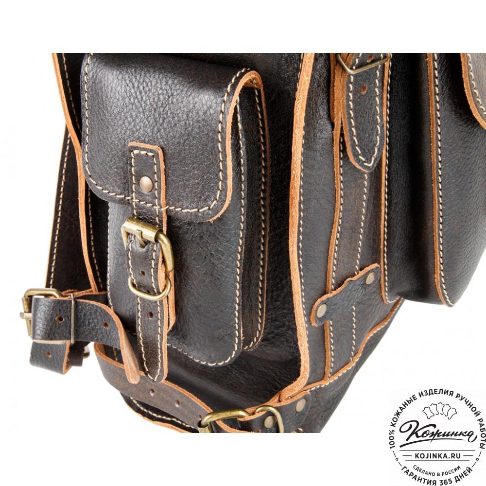 """Кожаный ранец """"Максимус 3"""" (коричневый эксклюзив)"""
