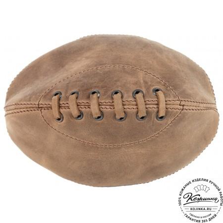 """Кожаный чехол для ремня """"Регби"""" (коричневый)"""