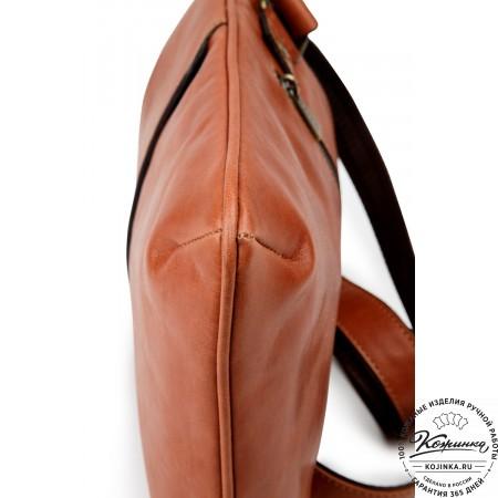 """Кожаная сумка """"Говард"""" (рыжая)"""