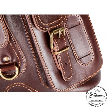"""Кожаный рюкзак """"Стиль 1"""" (тёмно-коричневый)"""