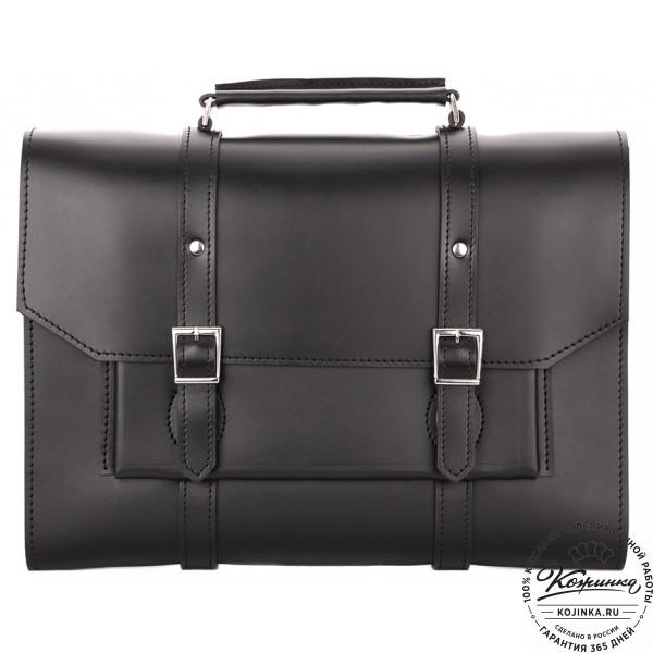 """Кожаный портфель """"Гордон"""" (чёрный). фото 1"""