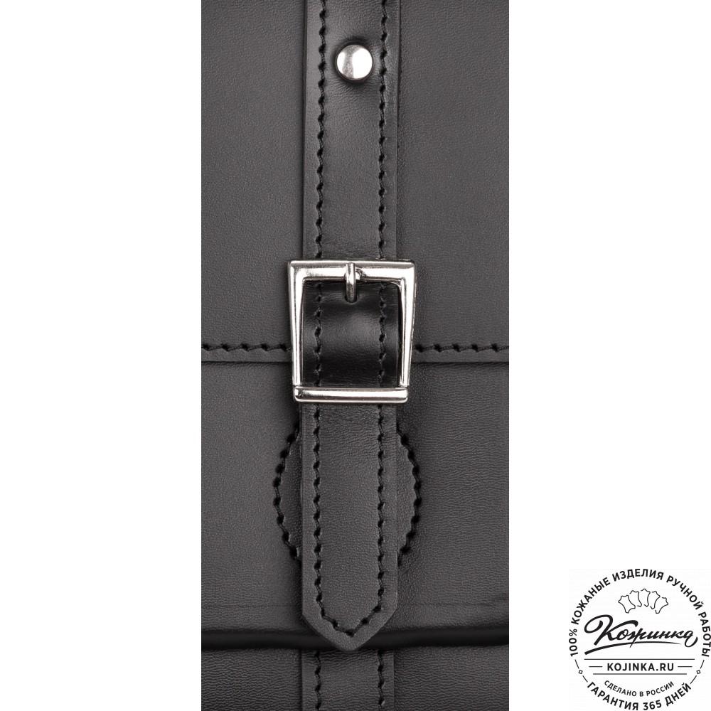 """Кожаный портфель """"Гордон"""" (чёрный)"""