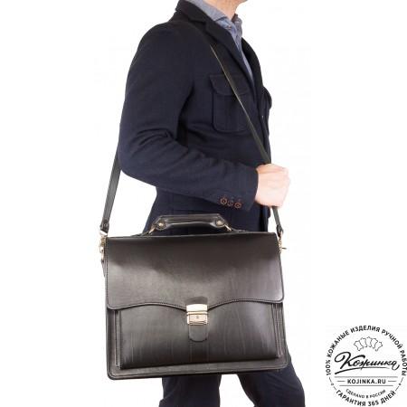 """Кожаный портфель """"Карьерист""""  (коричневый)"""