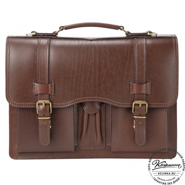 """Кожаный портфель """"Юрист""""  (коричневый). фото 1"""