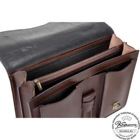 """Кожаный портфель """"Юрист""""  (коричневый)"""