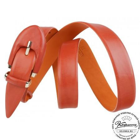 Кожаный ремень AT30-09 (рыжий)