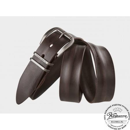 Кожаный ремень AT40-052 (тёмно-коричневый)