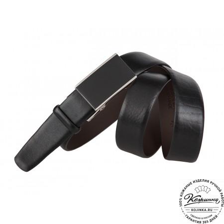 Кожаный ремень-автомат PF62-35 (чёрный)