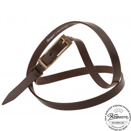 Кожаный ремень DS15-118 (тёмно-коричневый)